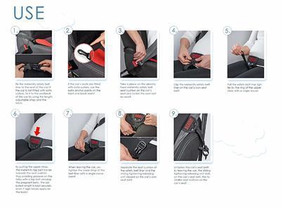 Bezpečnostní pás do auta pro těhotné SCAMP Comfort Isofix 2020 - 7