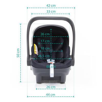Autosedačka ZOPA X1 Plus i-Size set včetně báze 2021, vulcan blue - 7
