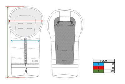 Fusak nastavitelný 3v1 Jibot PETITE&MARS 2020, briliant green - 7